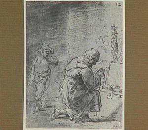 De kapelaan controleert het aantal broden in zijn koffer (Lazarillo de Tormes dl. 1, cap. 7, p. 21)
