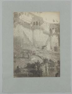 De heilige Ganges bij Benares