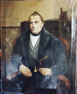 Portret van Arend Noordam (1797-....), burgemeester van Maasland
