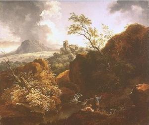 Landschap bij de rivier de Neckar