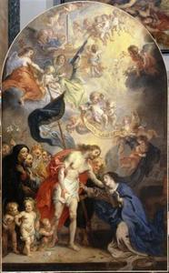 De wederopgestane Christus verschijnt aan de H. Maagd