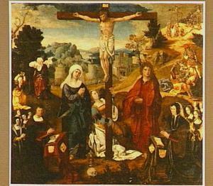 De kruisiging met stichters