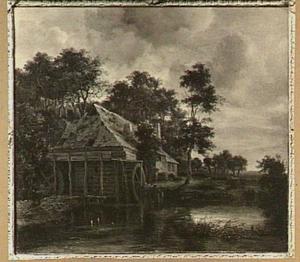Landschap met een watermolen
