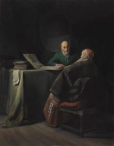 Twee redetwistende oude mannen