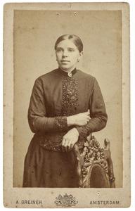 Portret van Mijntje Staartjes (1865-1938)