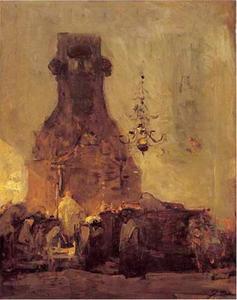 Interieur van de Grote of Duitse Synagoge te Den Haag