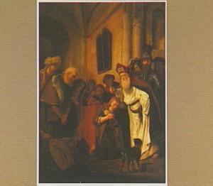 Samuel zalft David in het bijzijn van zijn vader Jesse en zijn broers (1 Samuel 16:13)