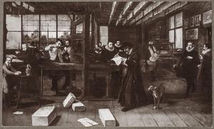 Interieur van een drukkerij