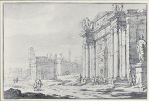 Capriccio met klassieke bouwwerken