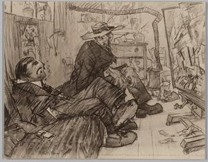 Karikatuur van Leo Gestel en Willem Frederik Hendrik van Golberdinge