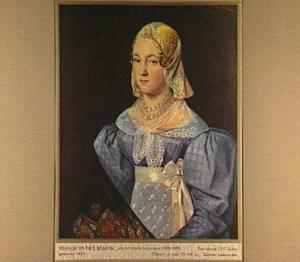 Portret van Fries meisje in het blauw