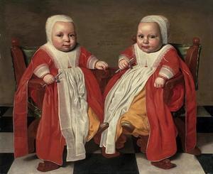 Portret van een tweeling