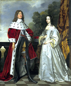 Dubbelportret van Friederich Wihelm I, keurvorst van Brandenburg (1620-1688) en zijn echtgenote Louise Henriëtte van Oranje-Nassau (1627-1667)