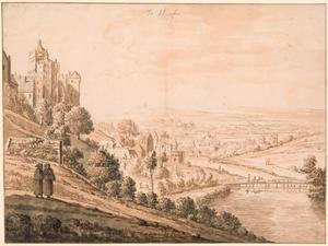 Kleef, Zwanenburcht en benedenstad gezien vanaf de Lustgarten