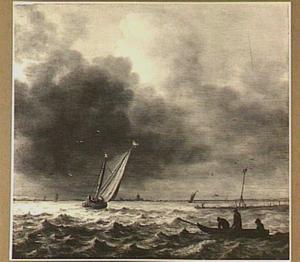 Zeilboot en roeiboot in rustig water