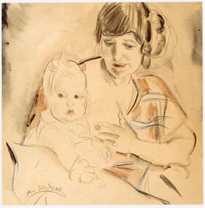 Portret van Margaretha Frederika van Cooten (1885-1967) en Elisa Sluijters (1924-2010)