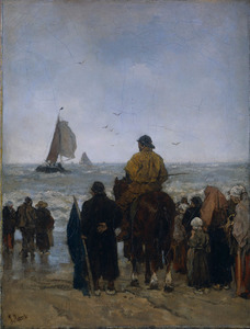 De aankomst der boten