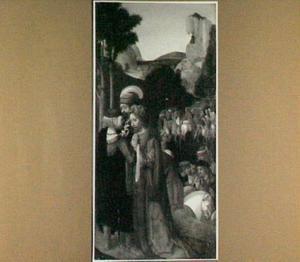 Jozef van Arimathea en Nikodemus vragen Pilatus om het lichaam van Christus (?)