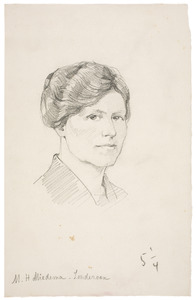 Portret van Margaretha Hendrika Zondervan (1878-1964)