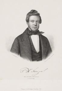 Portret van Pieter Hendrik Suringar (1813-1887)