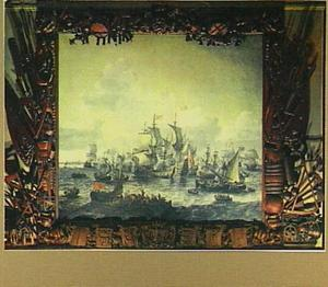 De slag op de Zuiderzee met Hoorn in het verschiet, 1573