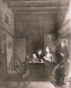 Interieur bij kaarslicht