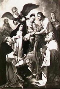 Het mystieke huwelijk van de H. Catharina van Siena