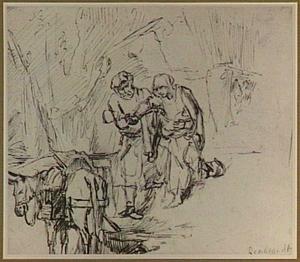 De Heilige Familie vertrekt naar Egypte