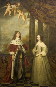 Dubbelportret van Friedrich Wilhelm van Brandenburg (1620-1688) en Louise Henriëtte van Oranje-Nassau (1627-1667)