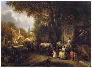 Markt in een Hollandse stad