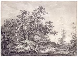 Boslandschap met herders in Oosterbeek, Gelderland