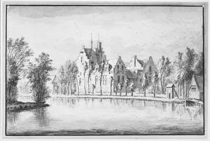 Rechter- en achterzijde van het huis Kostverloren bij Amsterdam