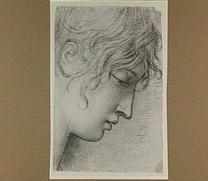 Hoofd van een jonge vrouw, en profil
