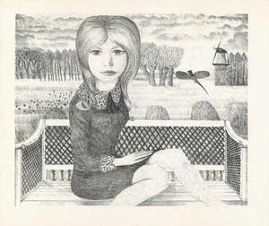 Meisje op bank