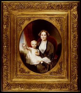 Portret van Maria Adolphine Schill (1836-1903) en August Frans Adolf van Scherpenberg (1853-1914)