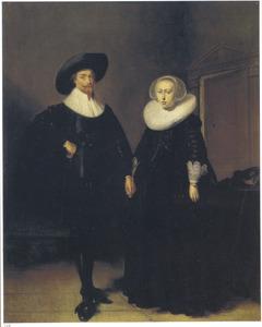 Dubbelportret van een onbekend paar