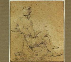 Zittende man met een tulband