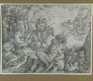 Cloelia ontvlucht het kamp van Porsenna (Livius 2:13; Plutarchus 6:19)