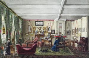 Een kamer in het huis Lange Vijverberg 2, Den Haag