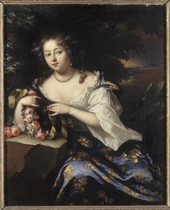Portret van Geertruid Dorothea van Goltstein (....-1724)