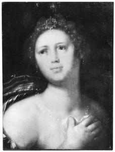 Portret van een vrouw, kijkend naar links, à l'antique
