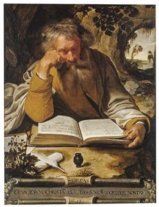 De apostel Andreas lezend