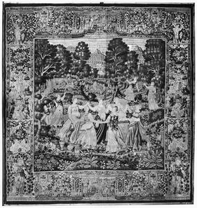 Nausicaä en haar gezellinnen dansen en spelen (3e tapijt in de reeks)