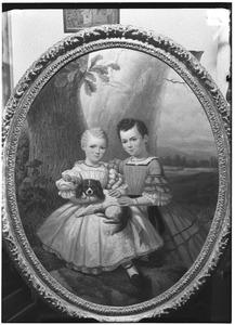 Dubbelportret van Geertruida Adriana Johanna Methorst (1854-1933) en Anna Susanna Methorst (1857-1933)