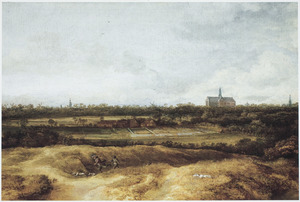 Landschap met bleekvelden in de buurt van Haarlem
