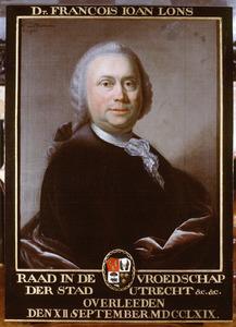 Portret van Francois Ioan Lons (1717-1769)