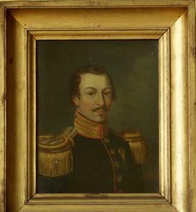 Portret van Jan Bakker, 2e Luitenant der Mariniers (1810-1830)