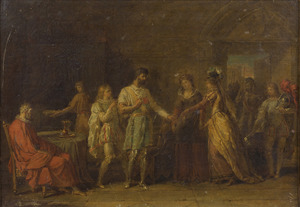 Bayard weigert de geschenken van zijn gastvrouwen in Brescia te aanvaarden