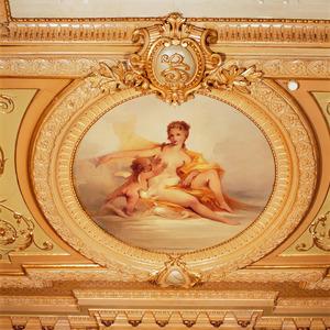 Medaillon met Venus, putto en dolfijn
