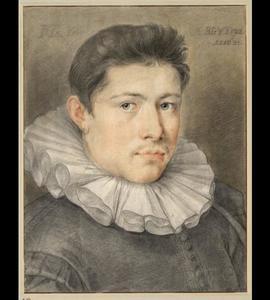 Portret van de kunstenaar Jacob Matham (1571-1631)